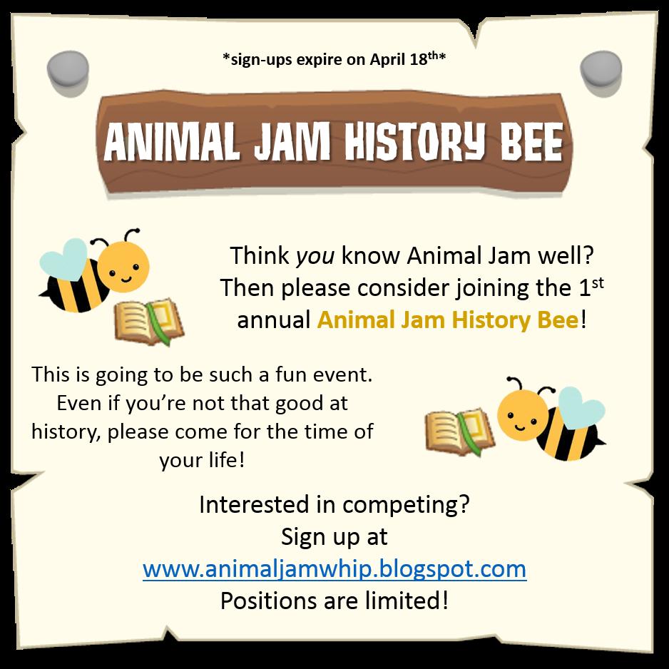 the animal jam whip animal jam history bee