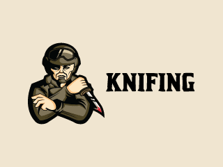 Soldier Knifing Mascot Logo