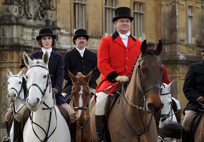 Michelle Dockery and Hugh Bonneville in Downton Abbey Season 6