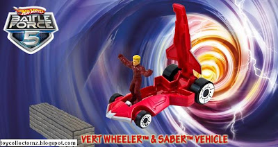 McDonalds Hot Wheels Battle Force 5 - Australia and New Zealand release - Vert Wheeler & Saber Vehicle