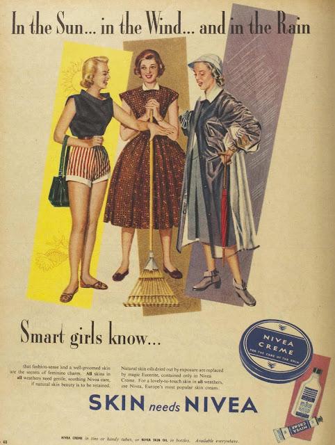 vintage 1950s ad for nivea hand creme