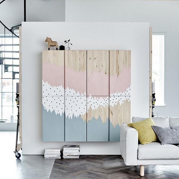 Künstlerisches IKEA Update an Ivar zum Selbermachen - individuelles Wohnen und Einrichten für jedermann