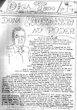 DIGA TUDO, Nº 01, primeiro jornal de São Miguel