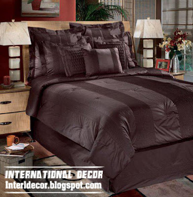 modern soft duvet cover sets bedding, brown soft duvet design