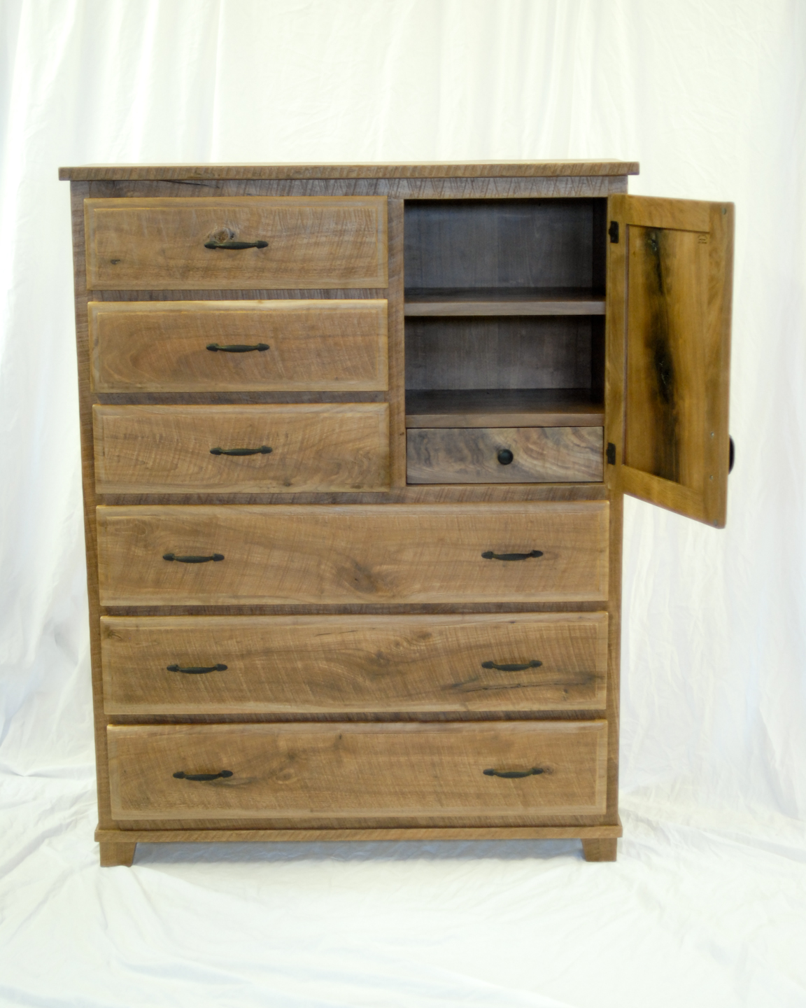 Custom Made Rough Sawn Walnut Dresser