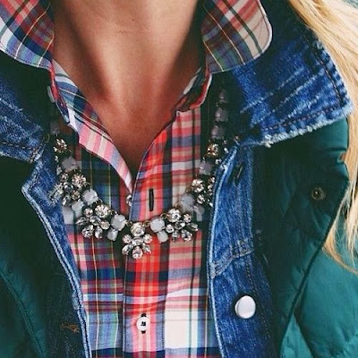http://howtochic.blogspot.it/2013/11/plaid-shirt-and-statement-necklace.html