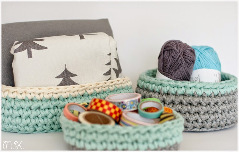 cestas trapillo: redonda, cuadrada, ovalada
