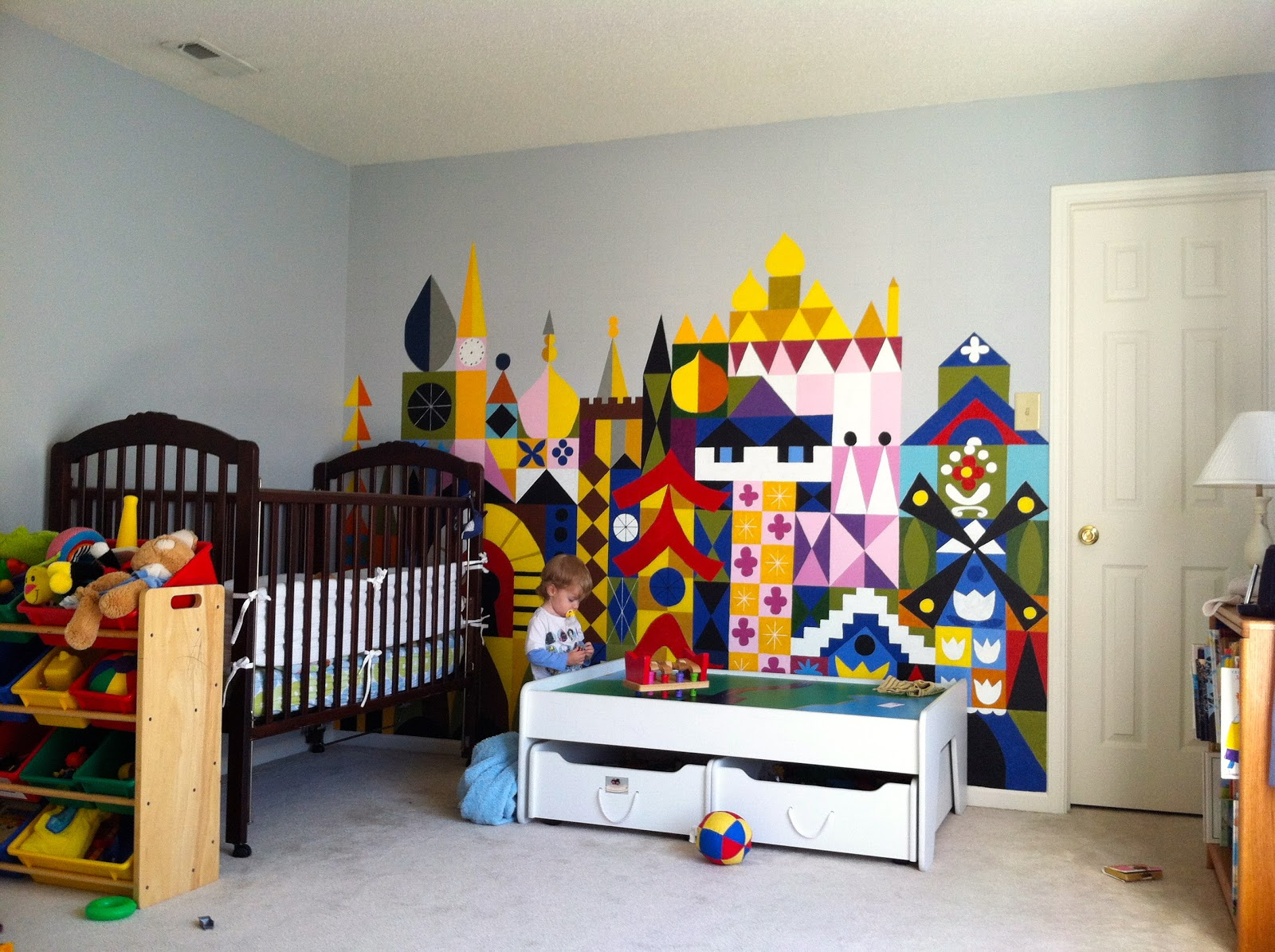 merryweather s cottage it s a small world kids room wall mural the finished product