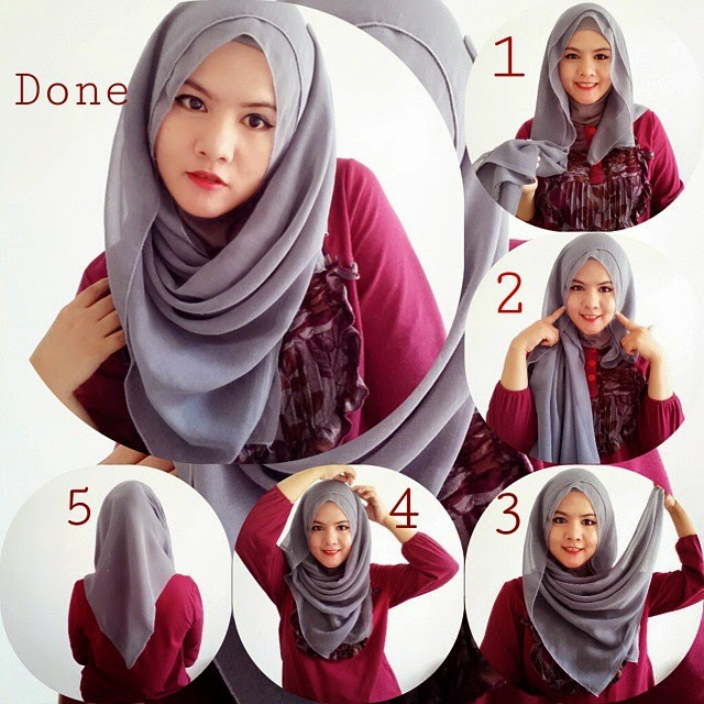 Hijab tutorial, Hijabs and Turbans on Pinterest