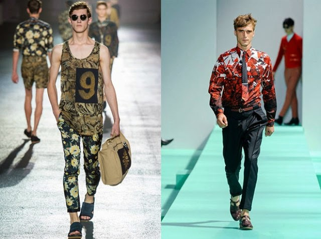 Estampado de Flores, Flower Prints, Tendencias, Spring-Summer, Moda Hombres,