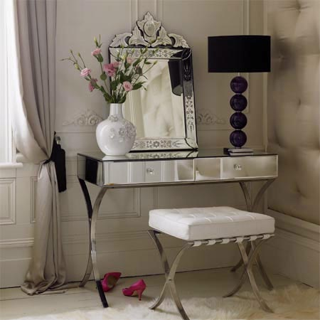 Red lip gloss i 39 m dreaming of vanity tables for Glass makeup table