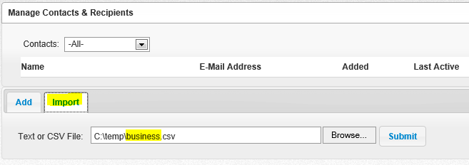 how to get a csv file from an address