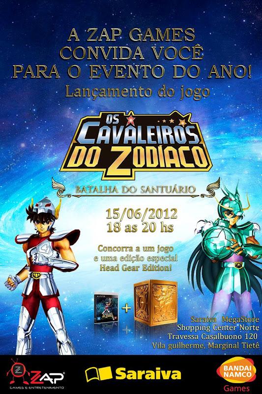 Evento do lançamento do Jogo dos Cavaleiros do Zodíaco para PS3. Evento_ps3_saraiva