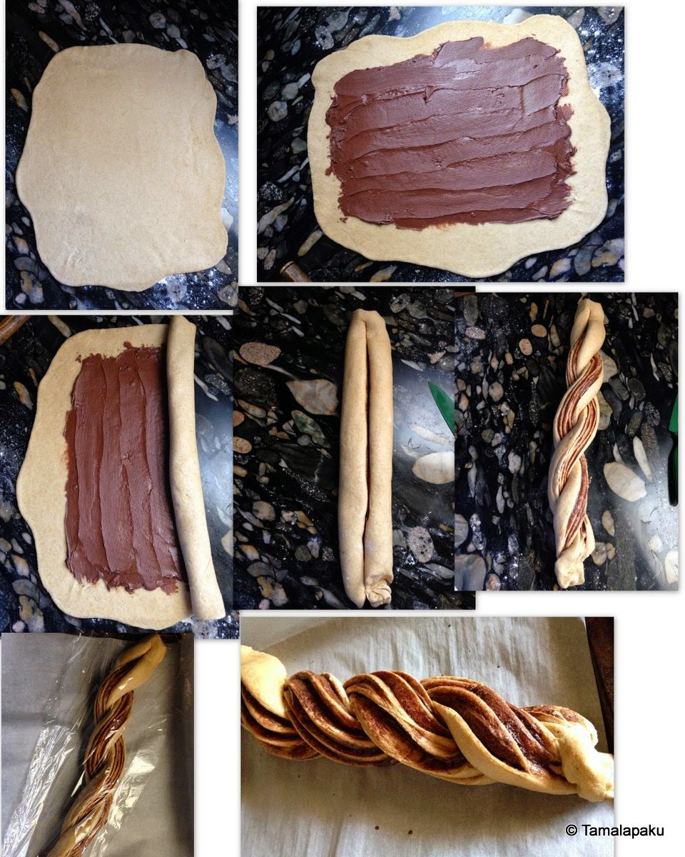 Nutella Braided Bread Prep
