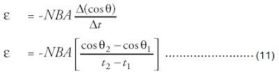 gaya gerak listrik induksi ggl perubahan orientasi sudut laju perubahan cos θ tetap