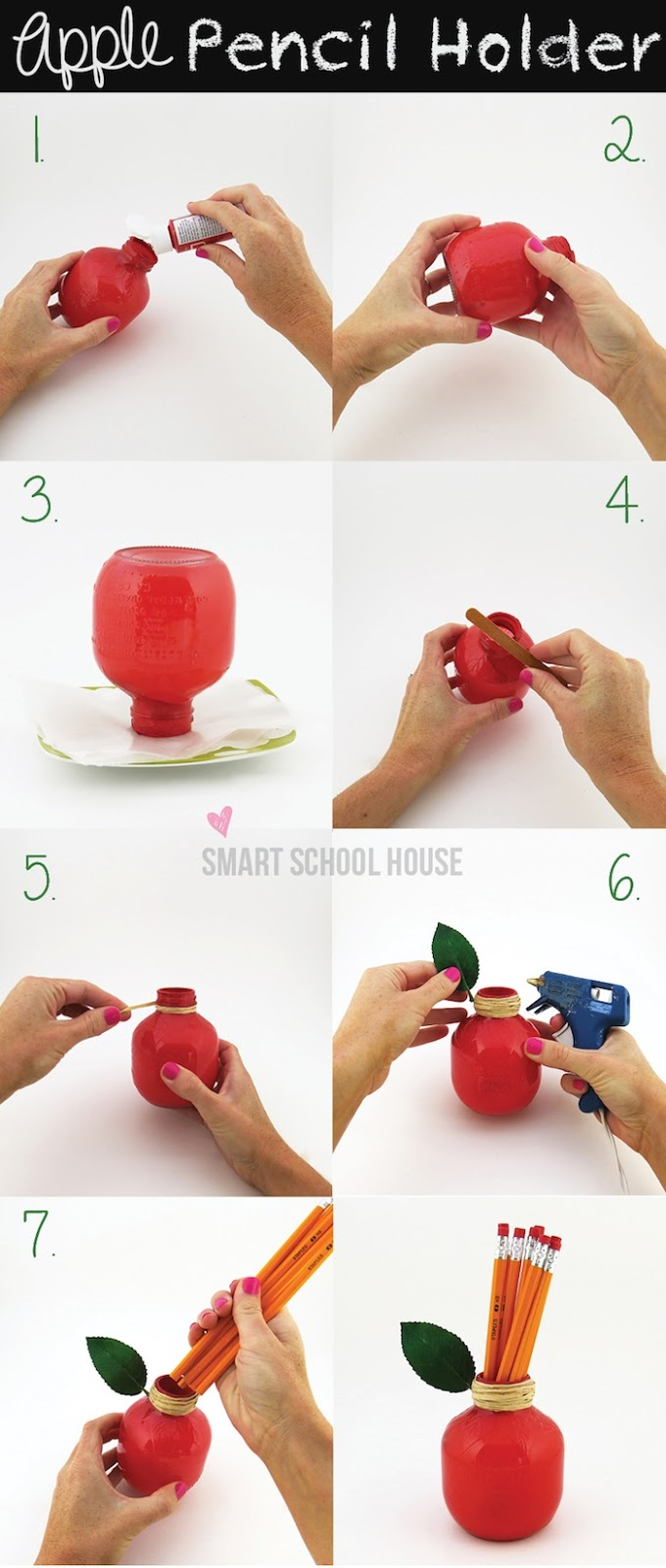 Back to School Apple: DIY Pencil Holder