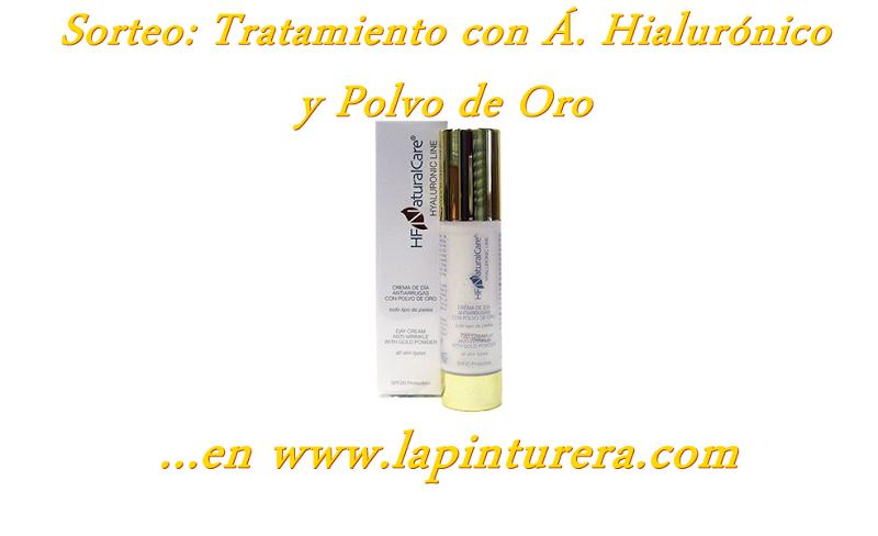 Sorteo Tratamiento con A. Hialurónico y Polvo de Oro en La Pinturera