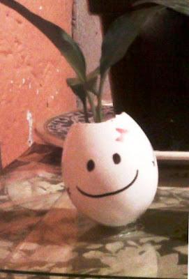 Maceta de Huevo para trabajos manuales de niños
