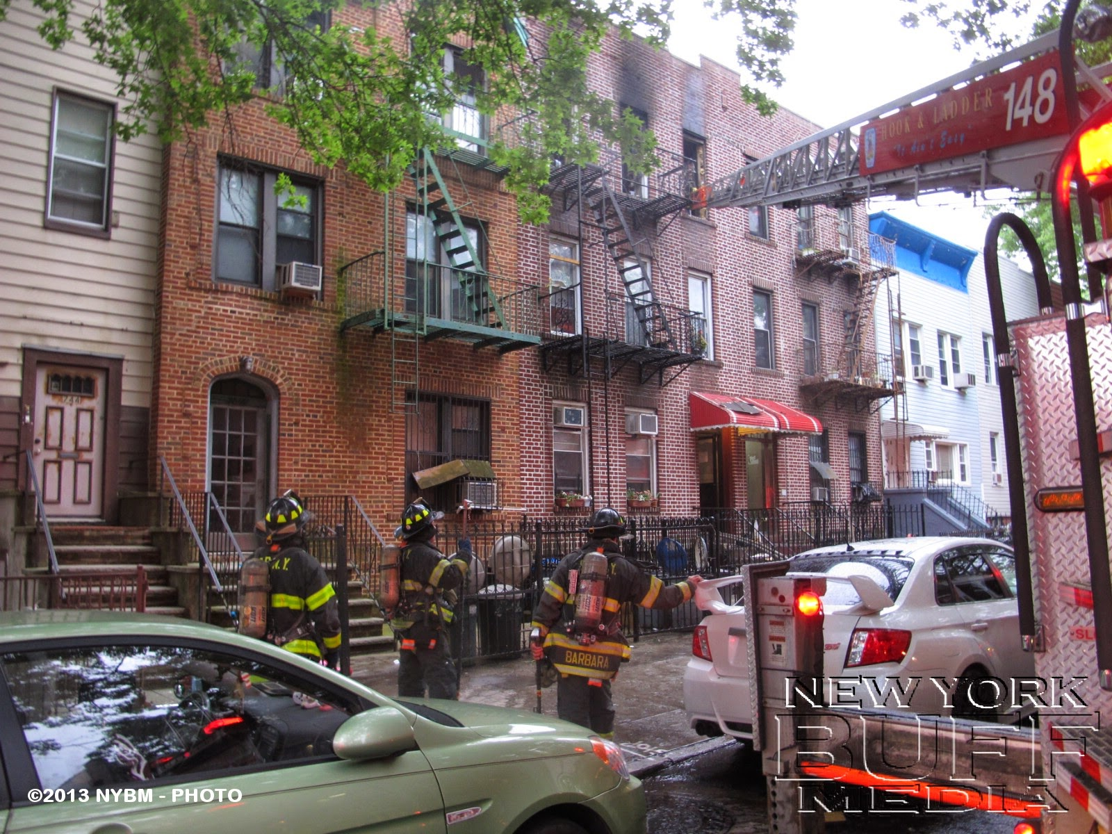 New York Buff Media All Hands Fire On 53th Street In Brooklyn