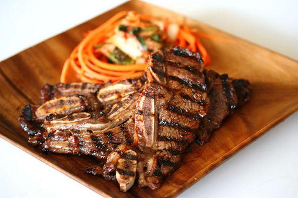 Kalbi and Bulgogi (Korean BBQ beef and short ribs)