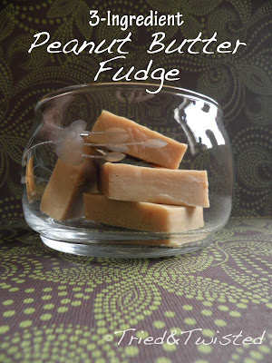Easy 3-Ingredient Peanut Butter Fudge | Tried & Twisted