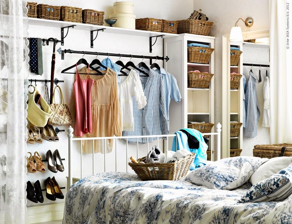 Decoraci n f cil armarios lowcost con cortinas - Separation de chambre pas cher ...