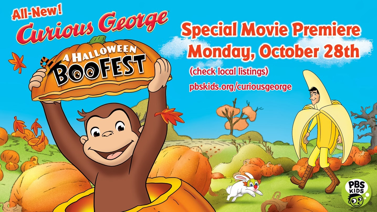 pbs will be premiering an all new full length curious george halloween movie