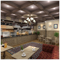 французский дизайн кафе,дизайн проект кафе,Поль бейкери,интерьер