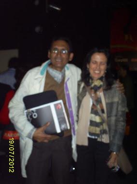 Adán de Maríass en la FIL de Lima 2012 y la escritora argentina Claudia Piñeiro