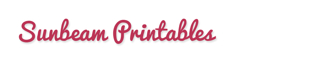 Sunbeam Printables