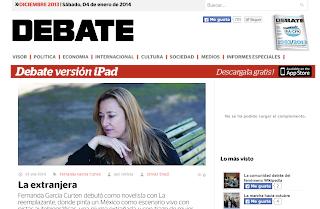 Entrevista a Fernanda García Curten, en Revista Debate