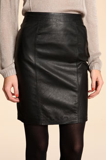 sparkle and fade balck leather pencil skirt