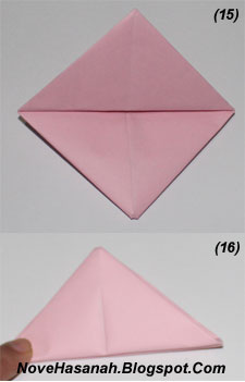 cara dan langkah-langkah disertai gambar untuk melipat kertas membentuk origami perahu layar sederhana untuk anak SD 6