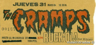 entrada de concierto de the cramps