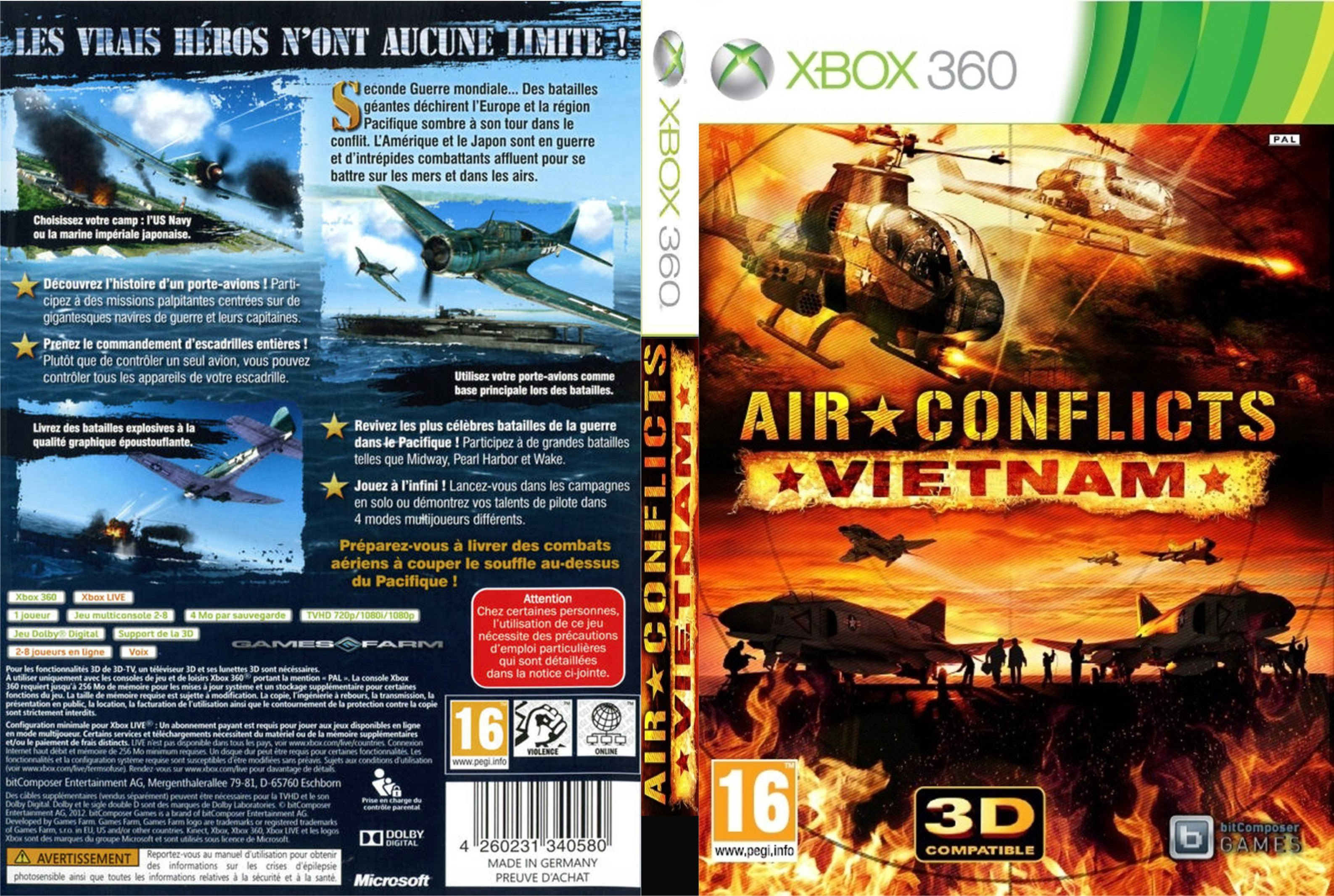 Capa Air Conflicts Vietnam Xbox 360
