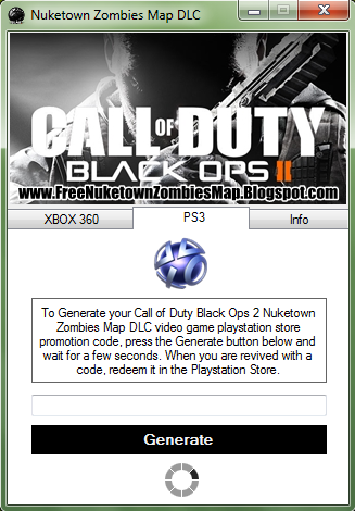 What is the nuketown zombies code please please I will not ...