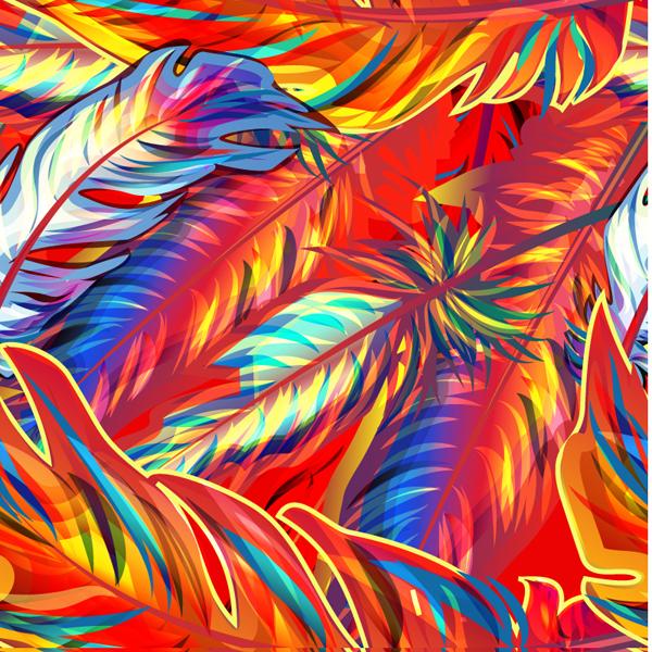 coloridas plumas en vector