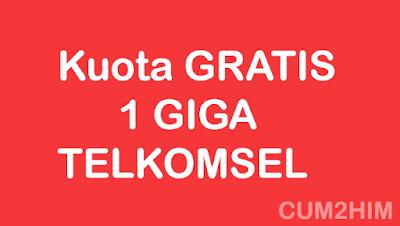 Trik Mendapatkan Kuota Gratis 1 Giga Telkomsel