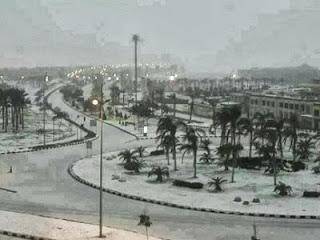 Foto Foto Salju di Kairo dan Timur Tengah