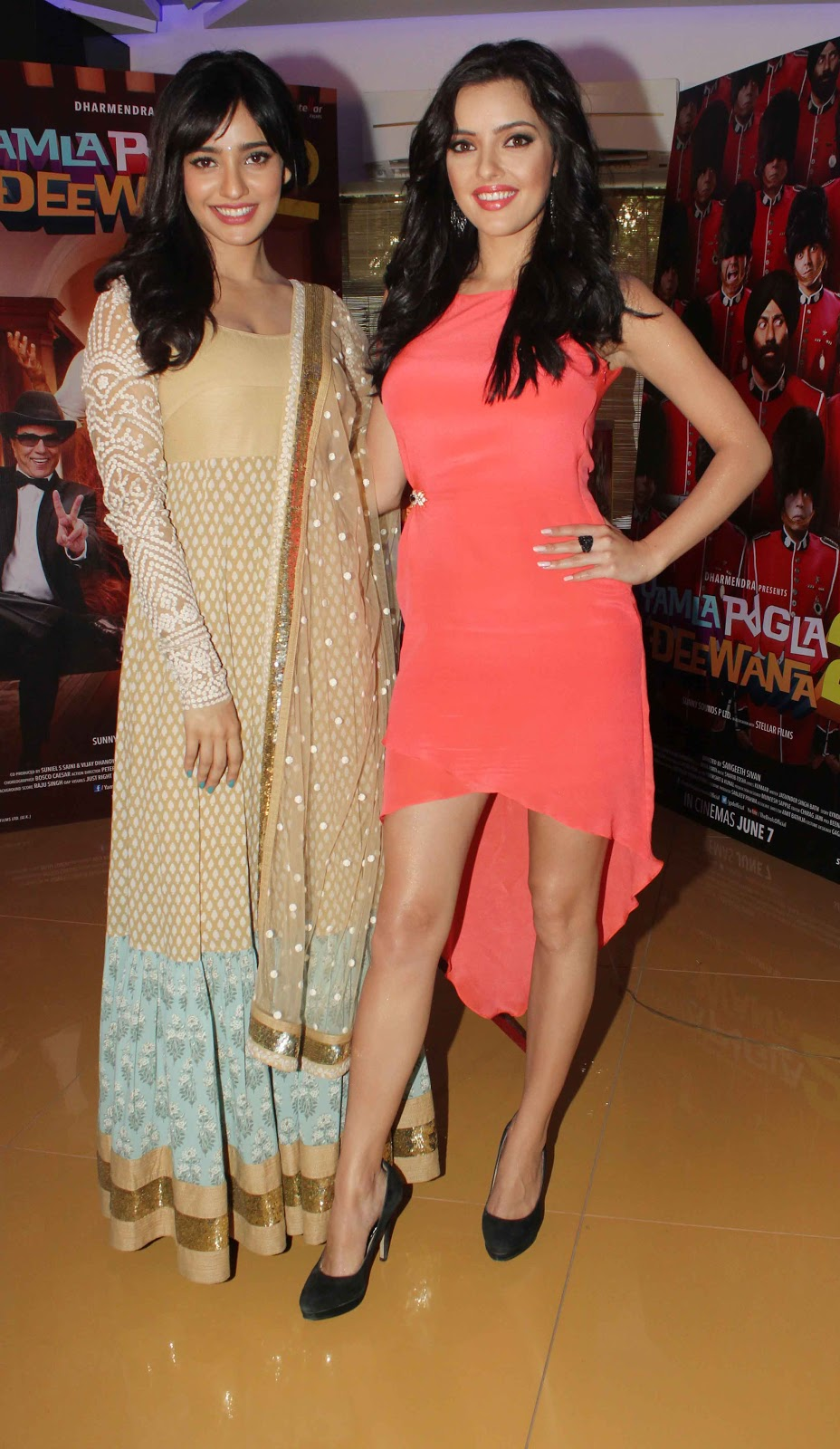 Kristina Akheeva and Neha Sharma Look Gorgeous At Film 'Yamla Pagla Deewana 2' Trailer Launch