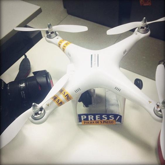 Drone utilizado pela Folha na cobertura dos protestos em São Paulo