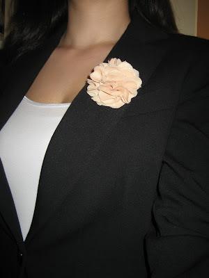 DIY Broche flor de tela/ Tissue flowers / Fleurs en tissu