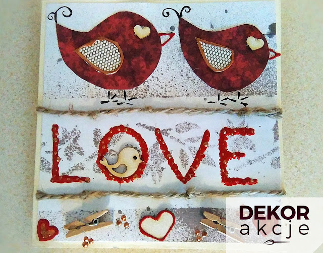 kartka miłość LOVE walentynki