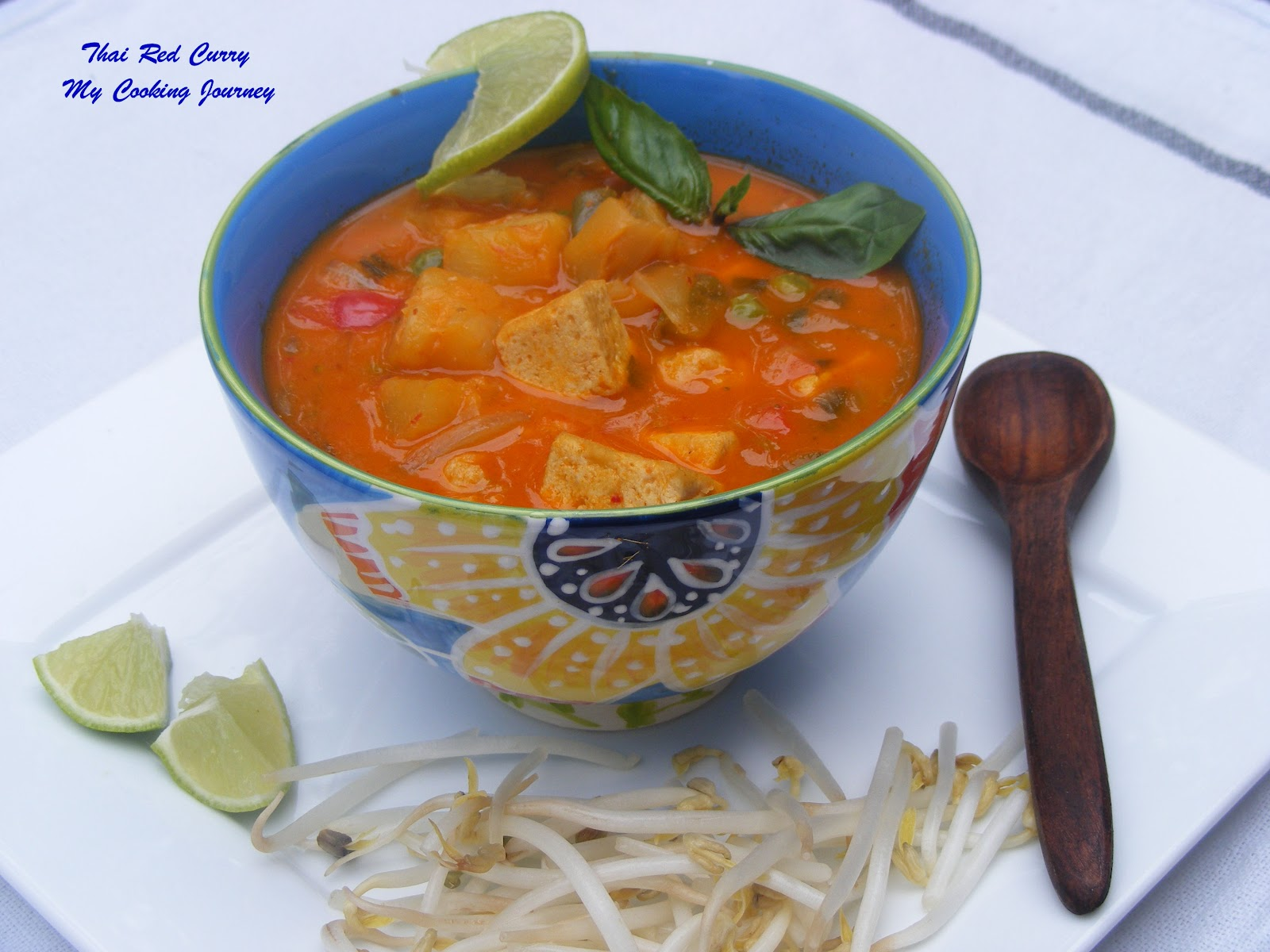 Thai Red Curry With Tofu And Basil Recipe — Dishmaps