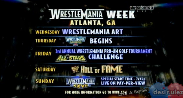 wwe raw roster 2011. WWE Raw - 28/3/2011