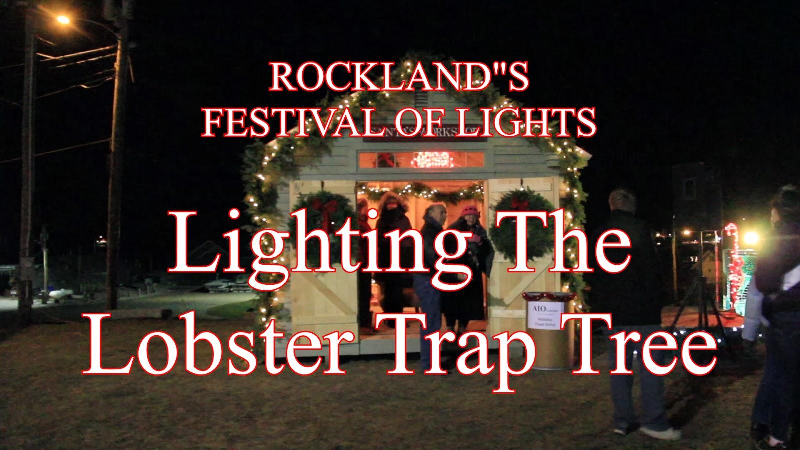 rocky coast news video lighting the lobster trap tree