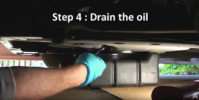 step 4 drain the oil in an oil change