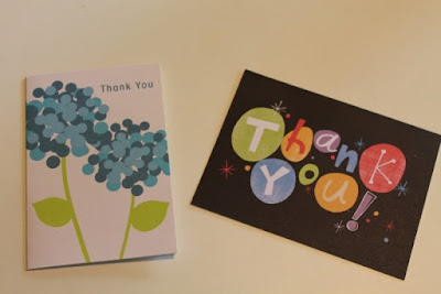 Store-bought cards upcycled into new cards.