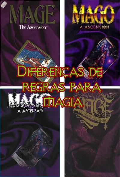 Diferenças de regras para magia