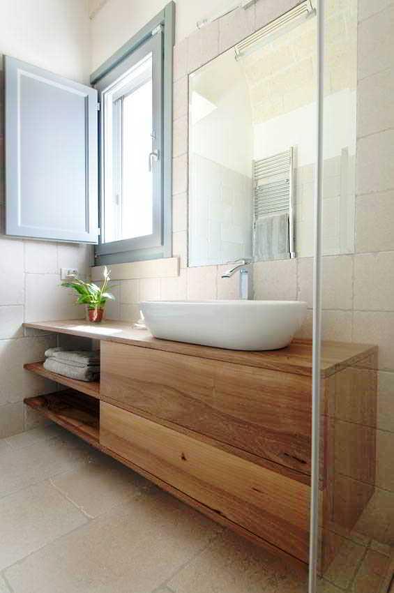 27 banheiros decorados grandes e pequenos confira - Misure mobili bagno ...